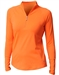 Jofit Long Sleeve Mock Shirt Orange Crush