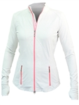 Jofit Tipped Thumbs Up Fitness Jacket - Coral Glow
