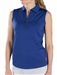 JoFit Sleeveless Jacquard Polo - Blue Depth