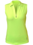 Jofit Sleeveless Jacquard Polo- Citron
