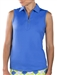 JoFit Sleeveless Jacquard Polo - French Blue