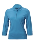 Nancy Lopez Luster 3/4 Sleeve Polo