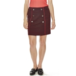Lizzie Driver Red Nuthatch Straight Golf Skort