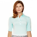 Lizzie Driver Murano To-The-Elbow Sleeve Polo