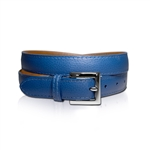 Lizzie Driver Blue Leather Belt