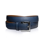 Lizzie Driver Navy Leather Belt