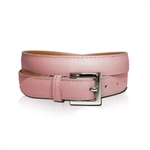 Lizzie Driver Pink Leather Belt