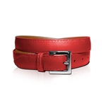 Lizzie Driver Red Leather Belt