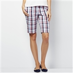 Lizzie Driver Destiny Bermuda Golf Short - Plaid