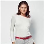 Lizzie Driver Feather Long Sleeve Crew