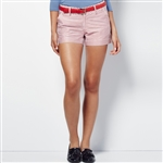 Lizzie Driver Freedom Golf Shorts  - Red/Blue Dots