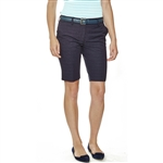 Lizzie Driver Moravian Bermuda Shorts - Navy