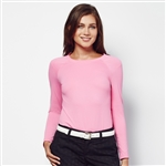 Lizzie Driver Revelation Long Sleeve Crew - Pink