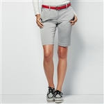 Lizzie Driver Salt Water Bermuda Golf Short - Heather Grey