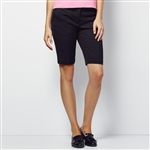 Lizzie Driver Saved Bermuda Golf Short - Black