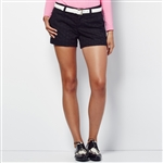 Lizzie Driver The Change Golf Shorts Black Eyelet