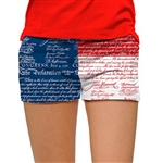 Loudmouth Golf Mini Short Declaration of Indepants
