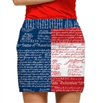 Loudmouth Golf Skort Declaration of Indepants
