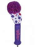 Girls Golf Knit Driver Headcover - Dimples & Dots