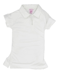 Garb Monica Girls Golf Polo - White