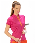 Nancy Lopez Desire Short Sleeve Golf Polo