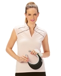 Nancy Lopez Tender Cap Sleeve Polo