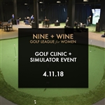 Nine+Wine: Golf Simulator and Clinic Event