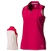 Puma Woven Block Sleeveless Polo - Rose Red
