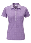 PING Halie Short Sleeve Golf Polo - Viola