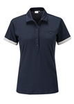 PING Leonie Short Sleeve Golf Polo - Navy