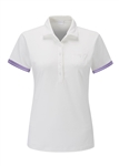 PING Leonie Short Sleeve Golf Polo - White/Viola