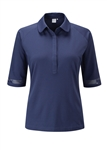 PING Stefanie 3/4 Sleeve Golf Polo - Deep Cobalt