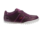 Puma Women's Monolite Cat Mesh Golf Shoe - Italian Plum/Purple Wine