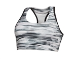 Puma Essentials Graphic Sports Bra Black/White