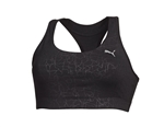 Puma Essentials Black Embossed Graphic Sports Bra