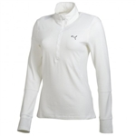 Puma Women's Longsleeve ½ Zip Top White
