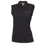 Puma Women's Tech Sleeveless Polo - Black