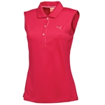 Puma Women's Tech Sleeveless Polo - Raspberry