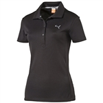 Puma Women's Tech Golf Polo - Black