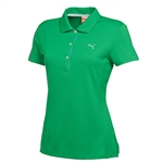 Puma Women's Tech Golf Polo Bright Green