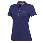 Puma Women's Tech Golf Polo Medieval Blue