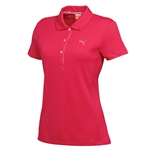 Puma Women's Tech Golf Polo Raspberry
