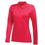Puma Women's Long Sleeve Polo Golf Polo - Raspberry