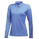 Puma Women's Long Sleeve Polo Golf Polo - Ultramarine