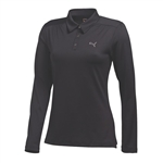 Puma Women's Long Sleeve Polo Golf Polo - Black