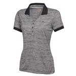 Puma Women's Multi Stripe Polo Golf Shirt Black