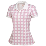 Puma Women's Argyle Glitch Polo Golf Shirt