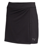Puma Women's Solid Stretch Knit Golf Skort - Black