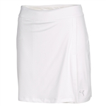 Puma Women's Solid Stretch Knit Golf Skort - White