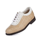 Aerogreen Alba Ladies Golf Shoe - Beige/White